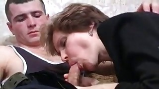 Cute-looking mature Russian sucks a good dick