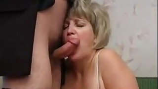 Lusty mature mom mature is sucking two cocks