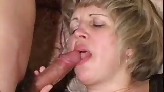 Good-looking Russian hottie sucks a dick