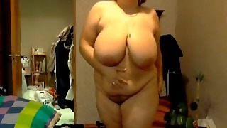 XNXX Russian mature porn with a BBW
