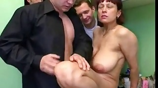 Young boys fucks with a Russian mature mom