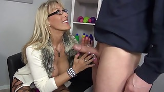 Angelic busty mature fucked by a big boner