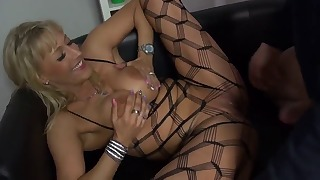 Mature milf likes doggy style sex so much