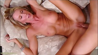 Good-looking busty MILF fucked by a long boner