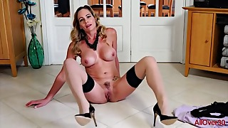 Good-looking MILF solo mature action in 1080p