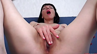 Mature granny solo with a brunette
