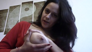 Excellent busty mature shows off her body