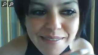 Latina milf mature looks nice in close-up