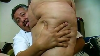 Sweet mature Latina granny BBW action